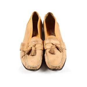 Bally Leather Loafers with Tassel 9.5